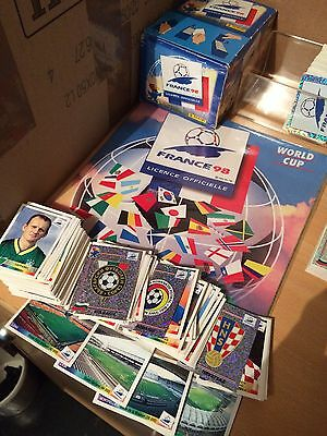 Panini France 98 wc Wm 1998 Lot 223 Stickers Différents Avec Écussons Rare Foot