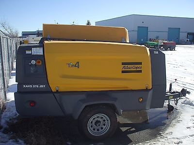 Atlas Copco XAVS 375 CFM @ 200 PSI High Pressure Compressor  (Doosan, Sullair)