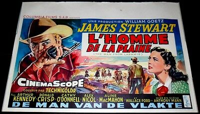 1955 The Man from Laramie ORIGINAL BELGIAN POSTER James Stewart Cathy O'Donnell