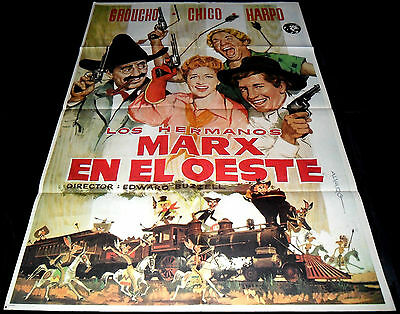 1939 Go West ORIGINAL SPAIN POSTER Marx Brothers Edward Buzzell Groucho Chico