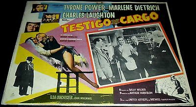 1957 Witness for the Prosecution ORIGINAL MEXICAN LOBBY CARD Billy Wilder