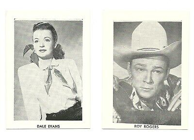 "2.5""X3.5""  B/W publicity photo from 40's-50's VG Condition Dale Evans-Roy Rogers"