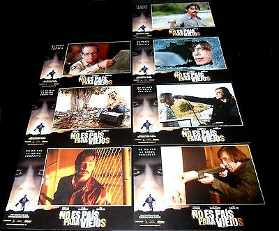 2007 No Country for Old Men ORIGINAL SPAIN LOBBY CARD SET Joel Etan Coen