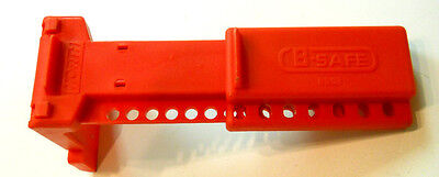 """North by Honeywell BS02 B-Safe Ball Valve Lockout, 1 1/2"""" - 2 1/2"""", Red"""