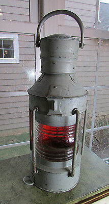 Fantastic Vintage Galvanized Maritime Nautical Ship Lantern
