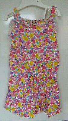 girls floral multicolor playsuit 3-4 years good condition by nutmeg Morrison