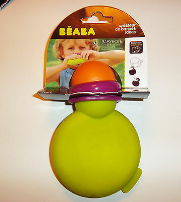 BEABA babypote (gourde pour compote, yaourt) silicone vert      NEUF