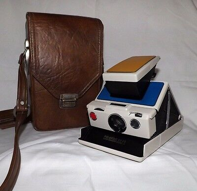 Polaroid SX-70 SLR Land Camera Model 2 Ivory  *Fully Working* Blue Green Yellow