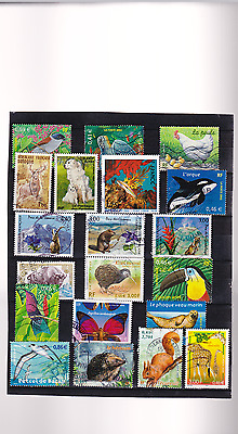 ANIMAUX  DIVERS  20 Timbres  obliteres