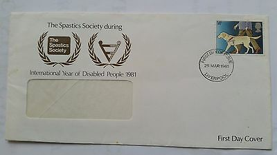 First Day Cover International Disabled People 25th March 1981