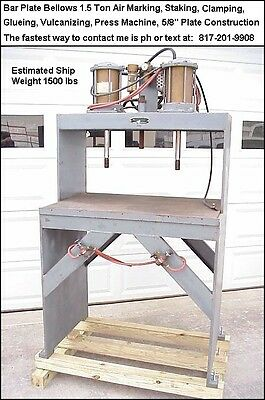 Air Stamp Press or Use To Make A Welding Table or Shell Reloading Bench etc