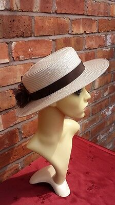Strata London Nude True Vintage Straw Hat Bowter Races Mother Bride Groom