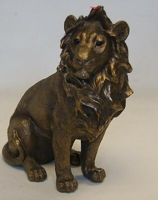 Reflections Bronzed Lion Sitting by Leonardo King of the Jungle Brand New in Box