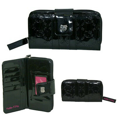 Loungefly Hello Kitty Black Embossed Long Wallet