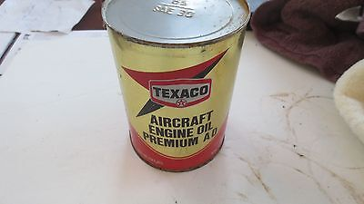 1979 Texaco Vintage Aircraft Engine Oil Can  Good, SAE30, Free Ship