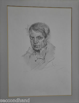 Salvador Dalí   Etching Photolitograph  Portrait Of Picasso  , Signed