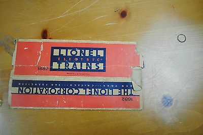 Lionel 1682 Caboose Box Only