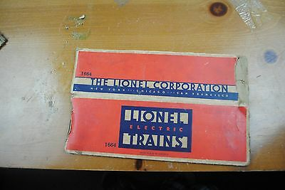 Lionel 1664 2-4-2 Locomotive Box Only