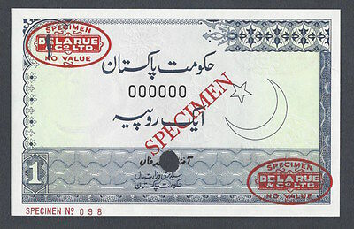 Pakistan One Rupee ND 1977 P24as Specimen TDLR Uncirculated