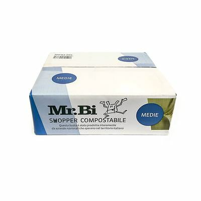 Shopper compostabili Mr. Bi - 500 buste biodegradabili Medie 28 +16x50 cm