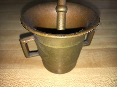 Solid Brass Apothecary Heavy Mortar and Pestle.Vintage Brass Pestle and Mortar