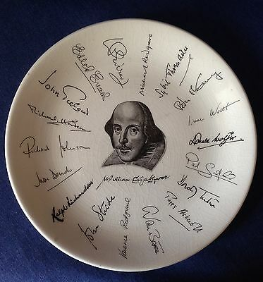 Holkham Pottery. Plate. Shakespeare Exhibition. 1564 1964.