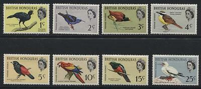 British Honduras: 1962 QE2 Birds short-set of 8 stamps to 25c SG202-209 MM SS209