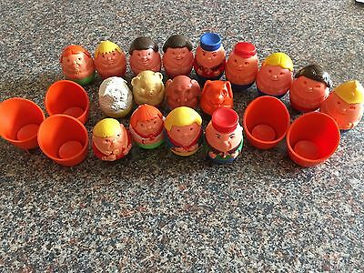 17 Vintage Airfix Weebles & Chairs. Family, Animals, + Others.