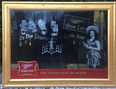 2008 Miller High Life Champagne of Bottled Beer Barber Shop Quartet Beer Mirror