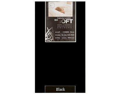 Catherine Lansfield So Soft Percale Non Iron King Fitted Sheet - Black - SS 598
