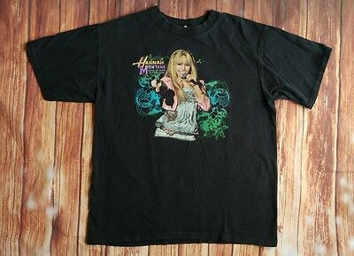 Rare Vintage Hannah Montana Tour T-Shirt, Size Medium, Black Best of Both Worlds