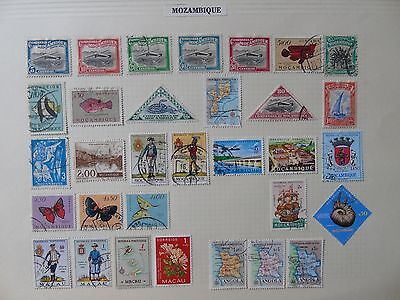 Mozambique Collection X 32 Old Stamps Sheet