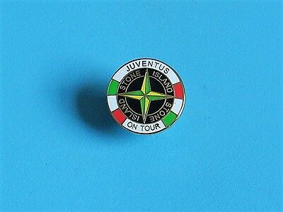 Juventus on tour stone island Football stud pin badge charity