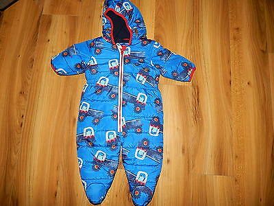 NEXT boys red TRACTOR snowsuits 3-6 months  *I'll combine postage