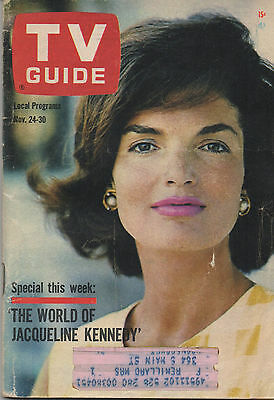 1962 TV Guide The World of Jacqueline Kennedy Nov. 24 - 30