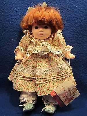 Doll By Pauline 1985 Toy With Paper Card Tag Red Hair Baby Girl Toddler In Dress