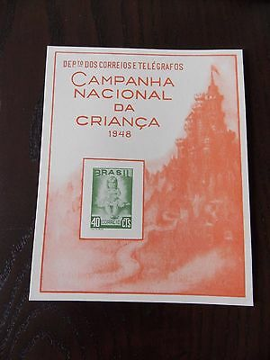 Brazil 1948 National Children's Campaign Post Office Souvenir Card