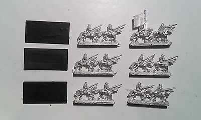 Warhammer Warmaster- 6x Bretonnian Mounted Squire Stands (3 bases). OOP