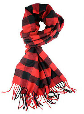 Unisex Classic Luxurious Soft Cashmere Feel Winter Scarf in Checks and Plaid