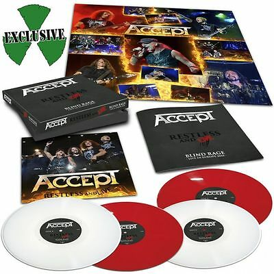 Accept 'Restless & Live' Limited Edition Embossed Red/White Vinyl Box Set