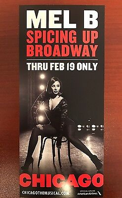 Chicago Broadway PROMOTIONAL FLYER Musical Mel B Scary Spice Girls