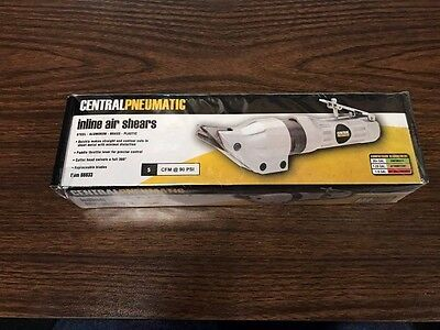 Central Pneumatic In Line Air Shears Item #98833 18 Gauge NEW