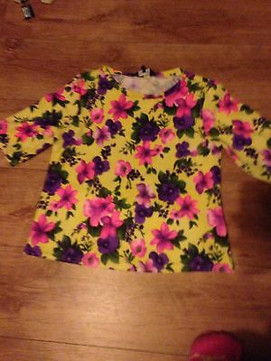 New Look Bright Neon Floral Top