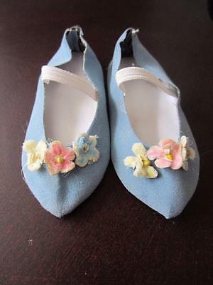 Vintage LIGHT BLUEVelvet Shoes  Chatty Cathy  FREE SHIPPING