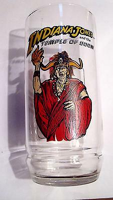 Rare! 1984 7UP  Indiana Jones and the Temple of Doom Mola Ram Glass