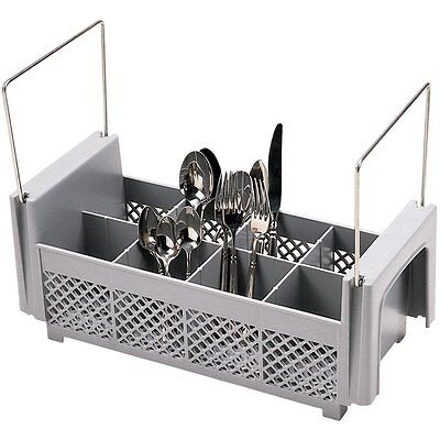8 Compartment Half Size  Flatware Basket with Handles