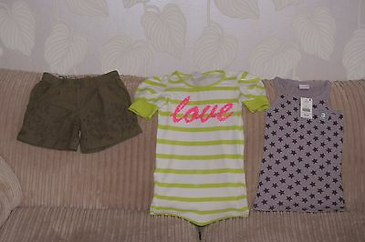 Girls BNWT NEXT Top, M&S Shorts and Next Top - age 6-7yrs