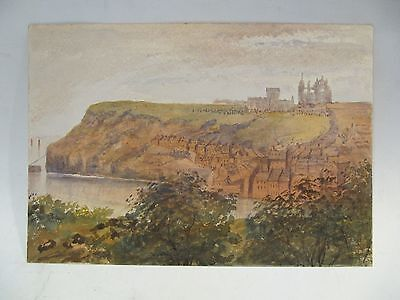 Original Victorian Watercolour Painting -  East Cliff Whitby North Yorkshire