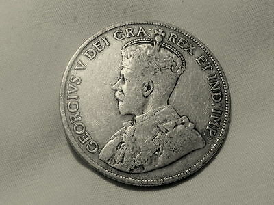 1917 Canada 50 Cents Silver Coin Great!!