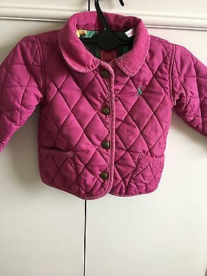 Joules Toddler Girls Pink Quilted Coat 9-12 Months
